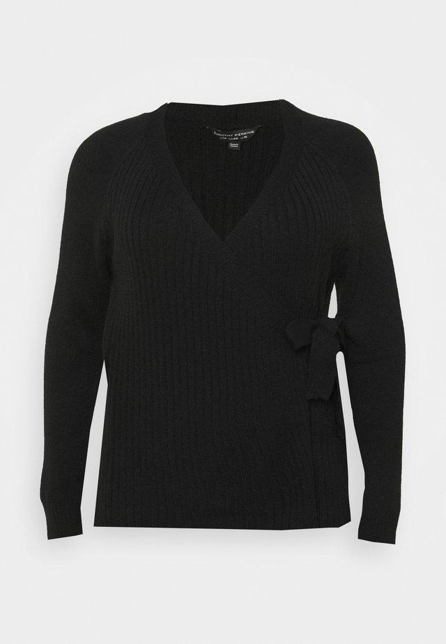 CURVE LOUNGE WRAP - Cardigan - black