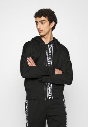 FELPA CON ZIP - Zip-up hoodie - black