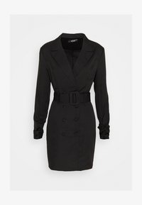 Missguided - DOUBLE BREASTED BELTED BLAZER DRESS - Vestido camisero - black - 0