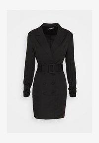 Missguided - DOUBLE BREASTED BELTED BLAZER DRESS - Skjortekjole - black - 0