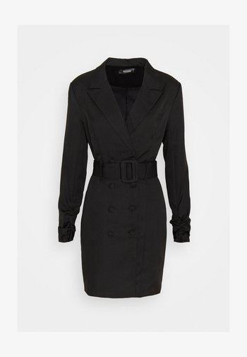 DOUBLE BREASTED BELTED BLAZER DRESS