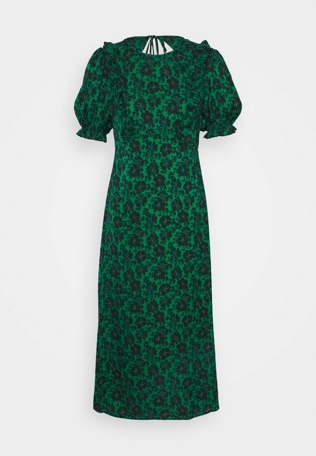 DAISY MIDI RUFF TEA - Denní šaty - green