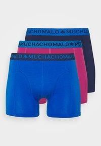 MUCHACHOMALO - VARI 3 PACK - Boxerky - dark blue/royal blue/purple - 0