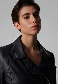 BOSS - JUANA - Leather jacket - open blue - 3