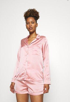 PIPING SHIRT SHORTS  - Pyjamas - pink