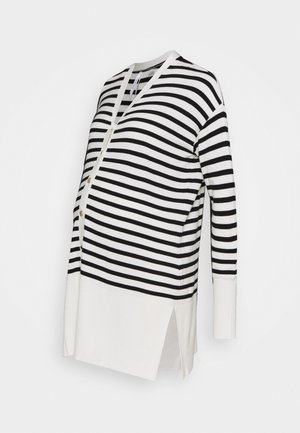JANTINE - Cardigan - black/white