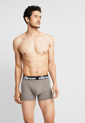 PARMO FASHION TRUNKS 2 PACK - Onderbroeken - black/charcoal