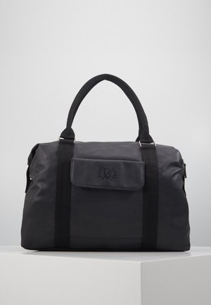 HOLDALL WITH CHECKED LINING - Weekend bag - black