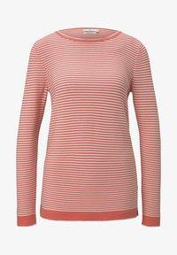 peach white horizontal stripe