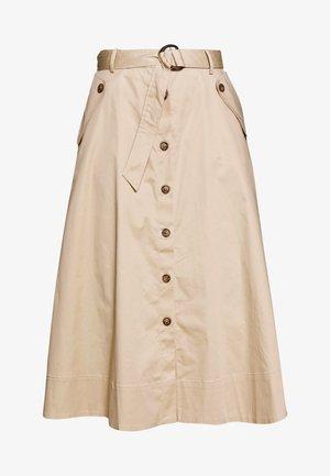 BUTTONED SKIRT - A-snit nederdel/ A-formede nederdele - beige/camel