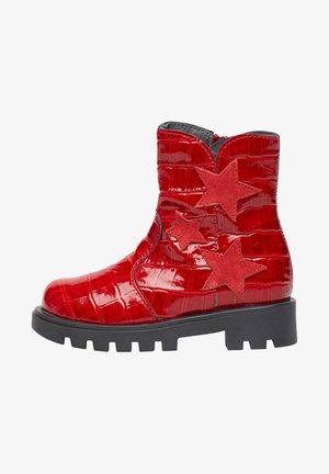 CAVEA MIT STERNEN - Cowboy/biker ankle boot - rot