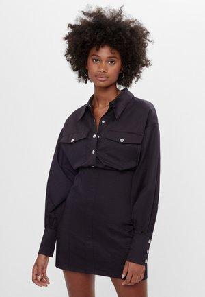 AUS POPELIN - Shirt dress - black