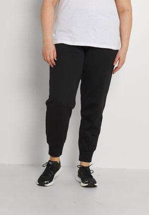 PLUS - Tracksuit bottoms - black/white