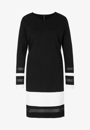 Strikket kjole - schwarz