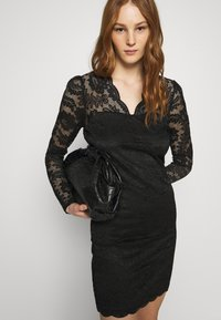 Vila - VIELLISA V NECK DRESS - Shift dress - black