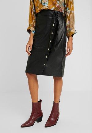 ANNA - Pouzdrová sukně - noir