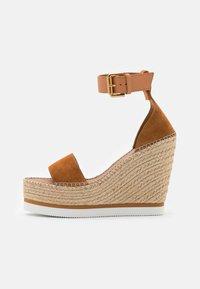 See by Chloé - GLYN HIGH - Korolliset sandaalit - light pastel brown - 1