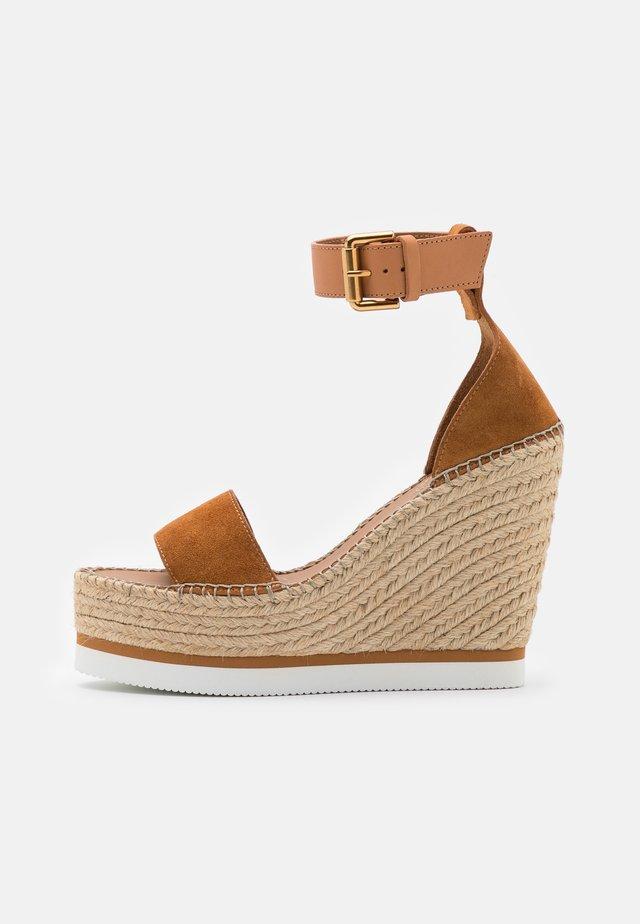 GLYN HIGH - Sandalen met hoge hak - light pastel brown