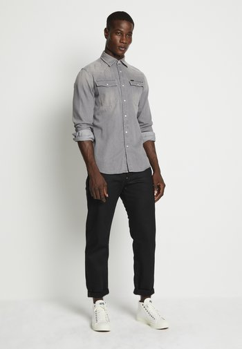 3301 SLIM SHIRT L\S FADED DUST GREY MEN