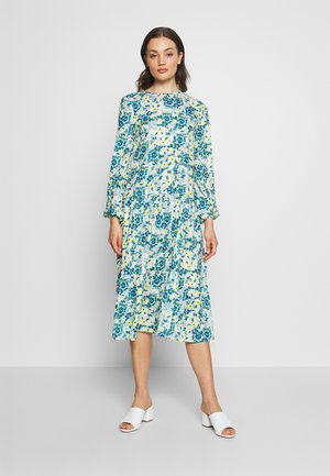 RUFFLE DRESS - Denní šaty - yellow