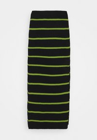 The Ragged Priest - SHOUT SKIRT - Pencil skirt - black/lime - 0