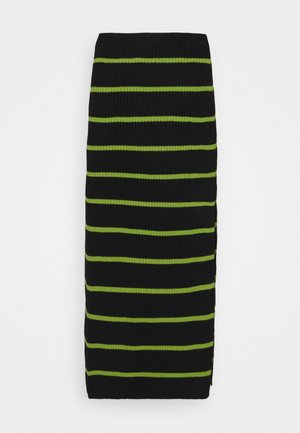 SHOUT SKIRT - Pencil skirt - black/lime