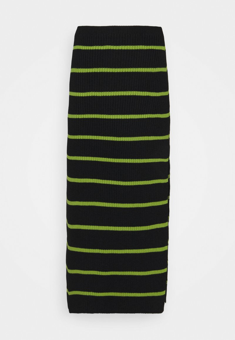 The Ragged Priest - SHOUT SKIRT - Pencil skirt - black/lime