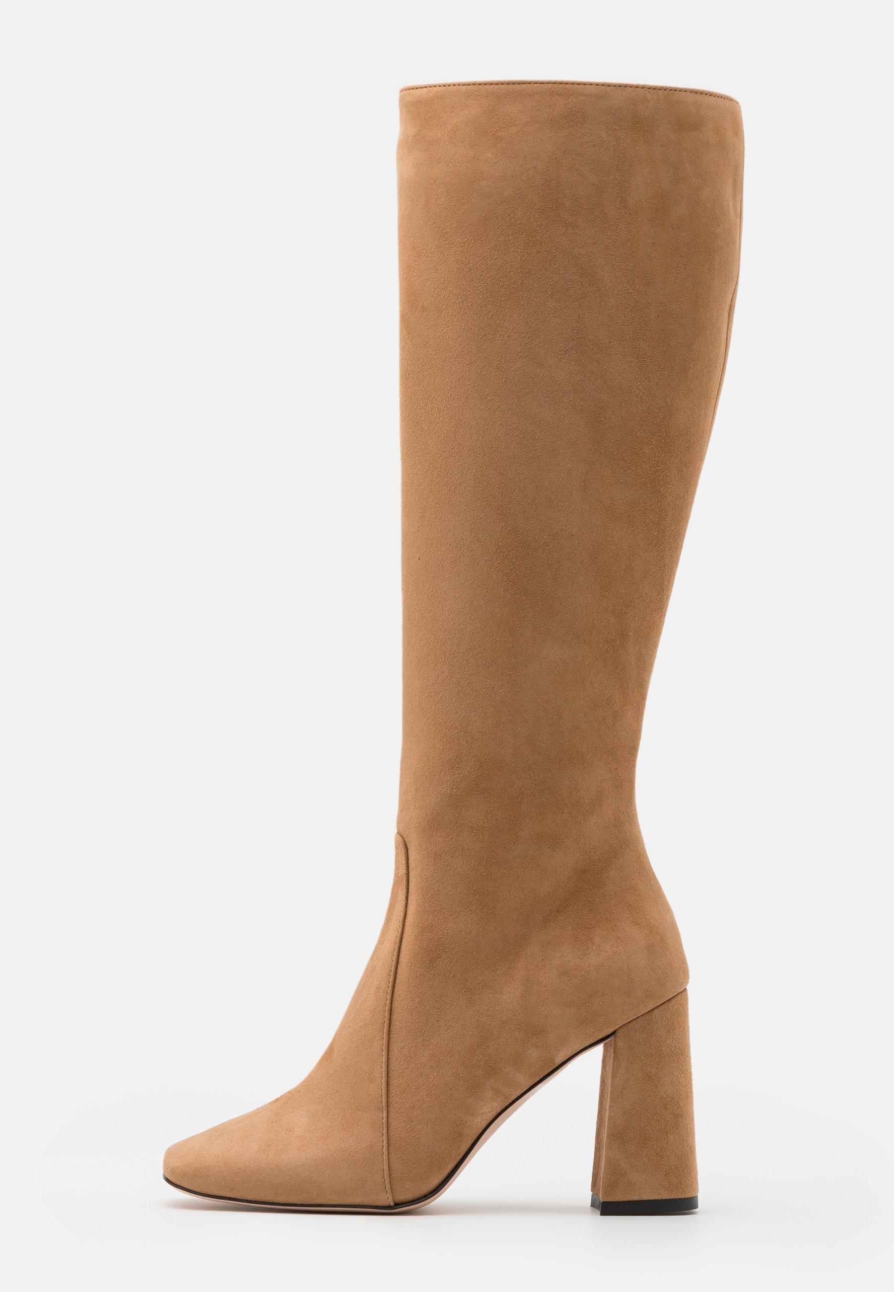 Laarzen met hoge hak camel