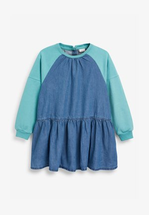 RAGLAN - Denim dress - teal