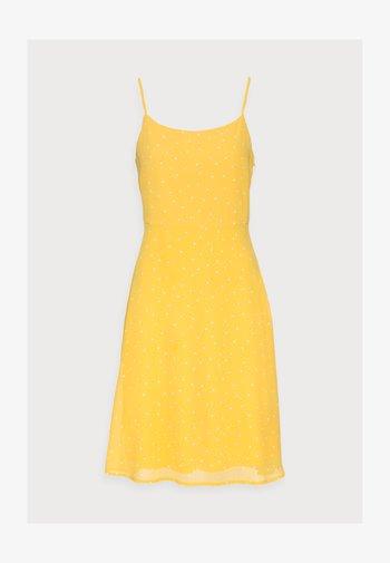 STRAPPA FIT AND FLARE - Vestito estivo - yellow, white