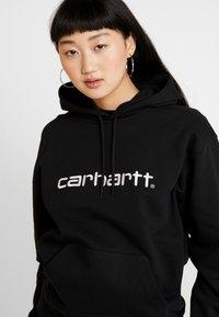 Carhartt WIP - HOODED - Hoodie - black / white - 4