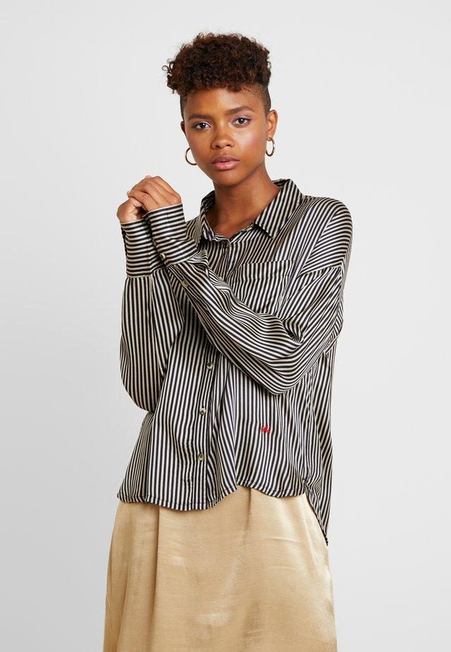 CHARLOTTE STRIPES - Button-down blouse - navy