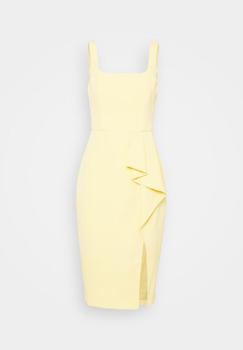 EMILY SQUARE NECK MIDI DRESS