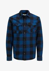 Jack & Jones PREMIUM - WOLLMISCHFASER - Shirt - estate blue - 0