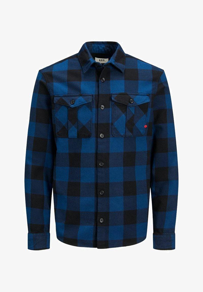 Jack & Jones PREMIUM - WOLLMISCHFASER - Shirt - estate blue