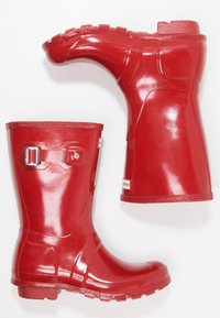 Hunter ORIGINAL - ORIGINAL SHORT GLOSS VEGAN - Wellies - Holínky - middle red - 2