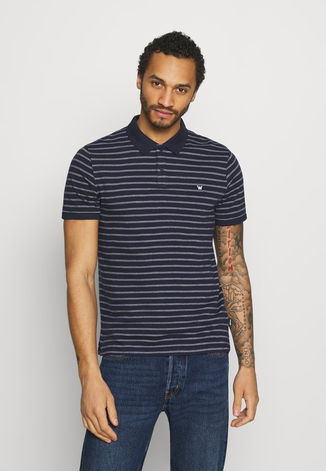 STRIPE - Polo - navy