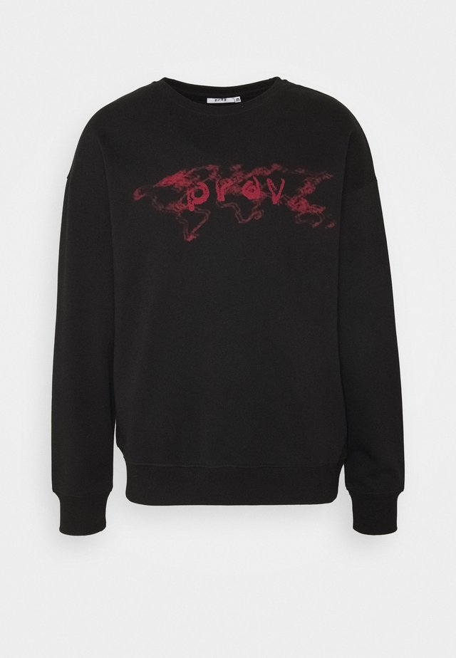 UNISEX PRAY WORLD LONG SLEEVE - Huvtröja med dragkedja - black
