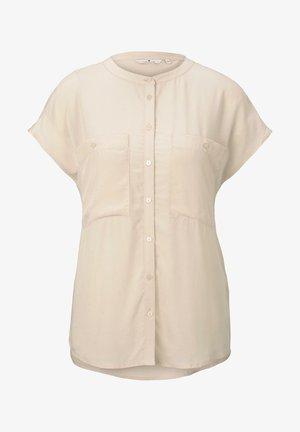 BLUSEN & SHIRTS BLUSENSHIRT MIT MAO-KRAGEN - Button-down blouse - soft vanilla