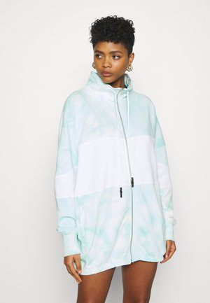 PLAYBOY TIE DYE ZIP THROUGH - Zip-up hoodie - mint