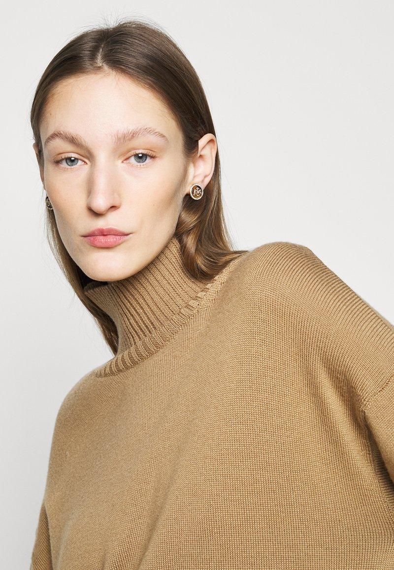 Lauren Ralph Lauren - CREST STUD - Earrings - gold-coloured/brown