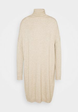 VIRIL ROLLNECK  - Jumper dress - natural melange