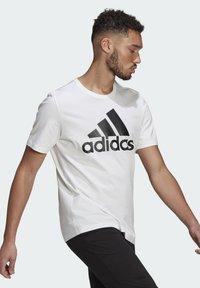 adidas Performance - ESSENTIALS BIG LOGO T-SHIRT - Print T-shirt - white - 2