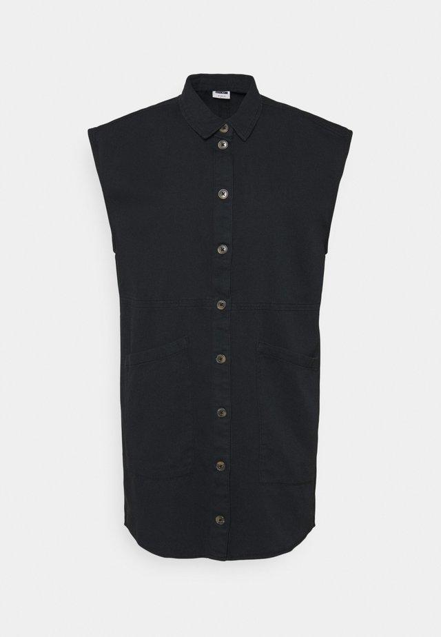 NMALMA CAPSLEEVE DRESS - Shirt dress - black