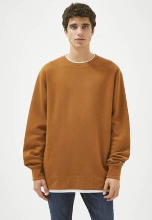 Sweatshirt - mottled brown