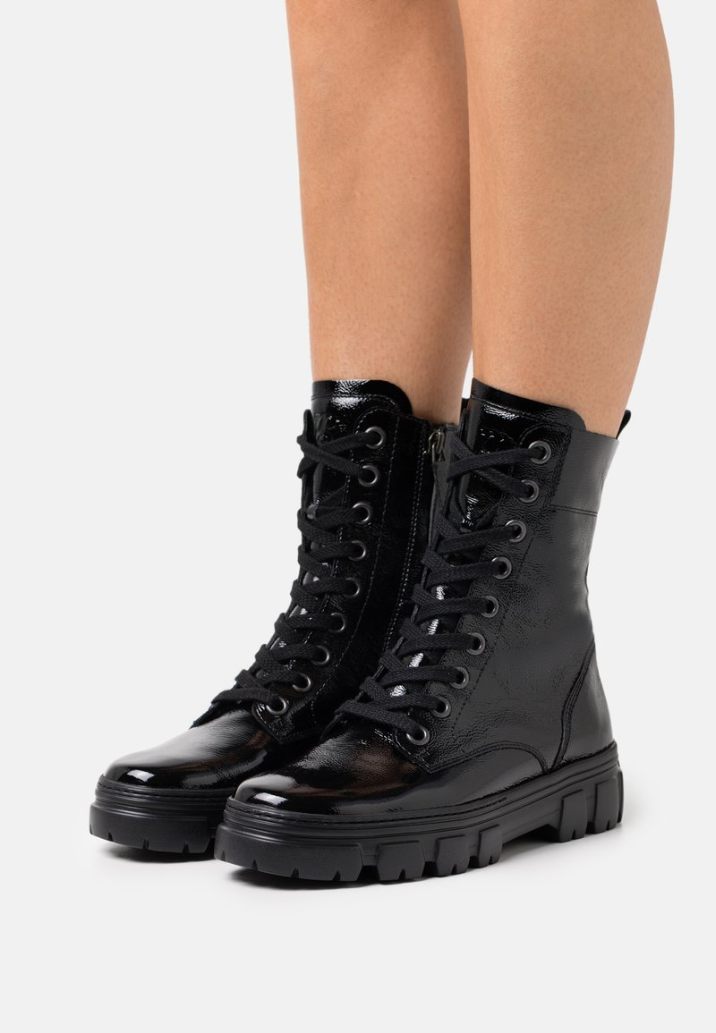 Paul Green - Lace-up ankle boots - schwarz