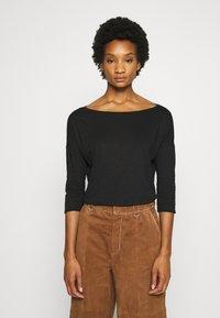 Sisley - Long sleeved top - black - 0