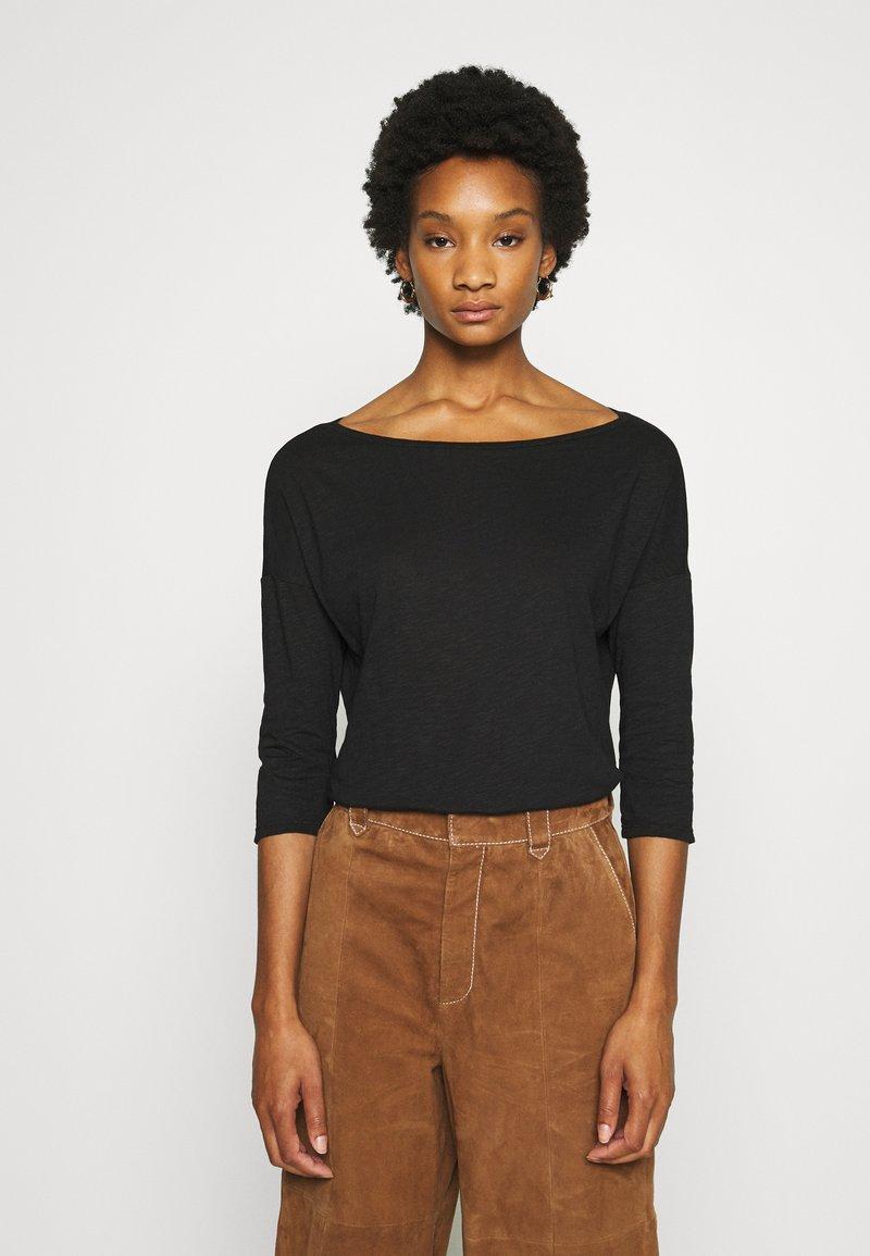 Sisley - Long sleeved top - black
