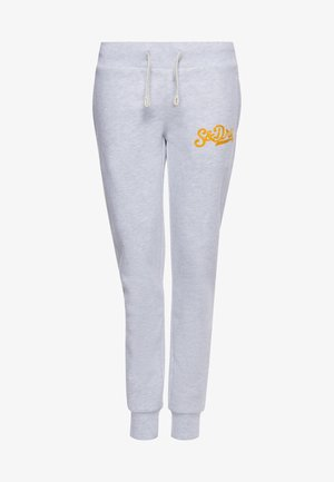SUPERDRY COLLEGIATE SCRIPTED  - Tracksuit bottoms - ice marl