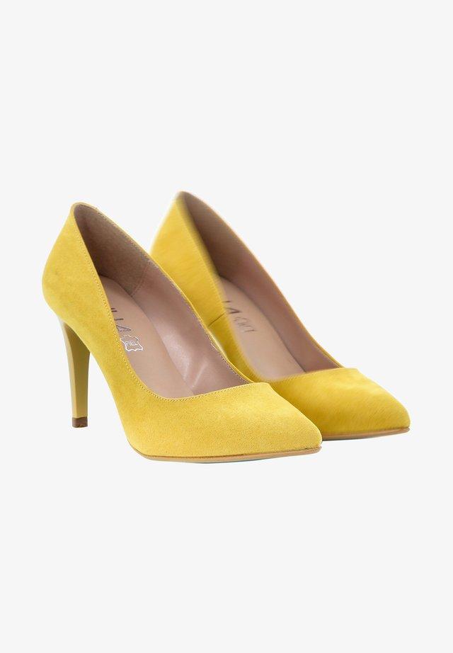 Hoge hakken - yellow